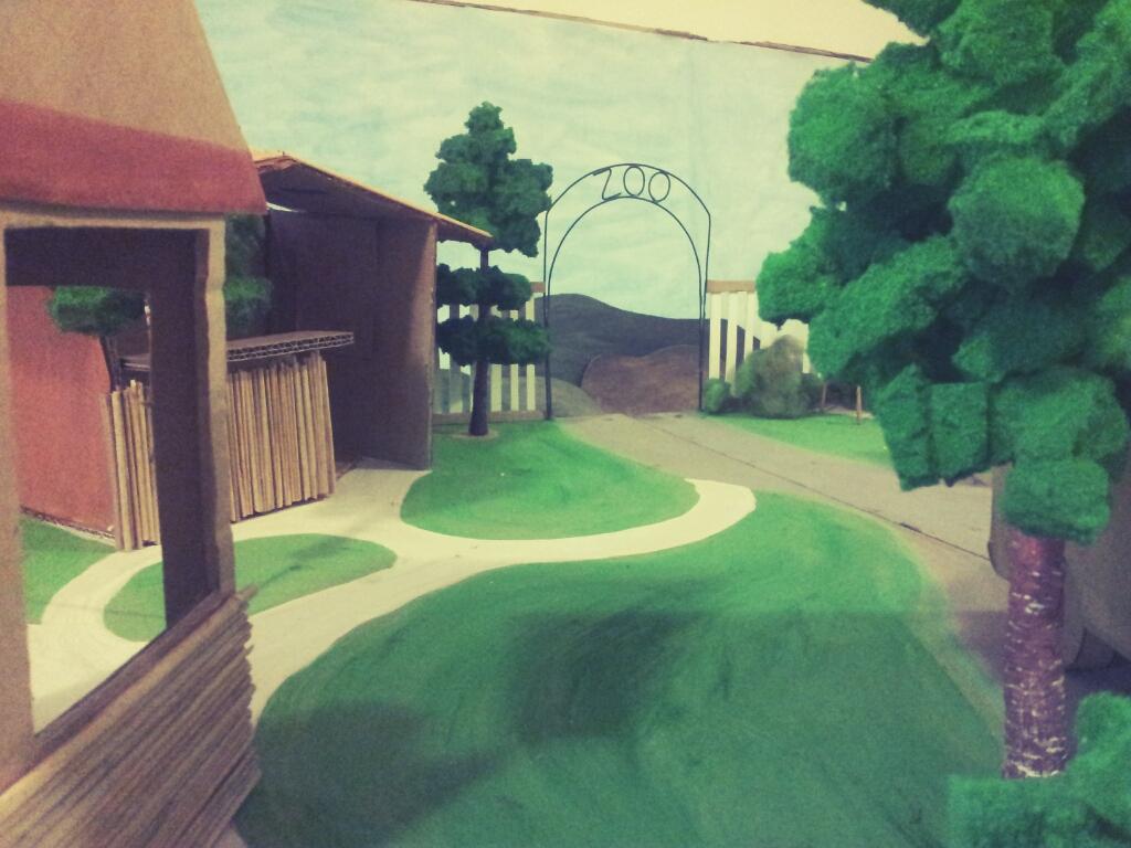 scéna Zoo pro animační workshop v Bohnicích